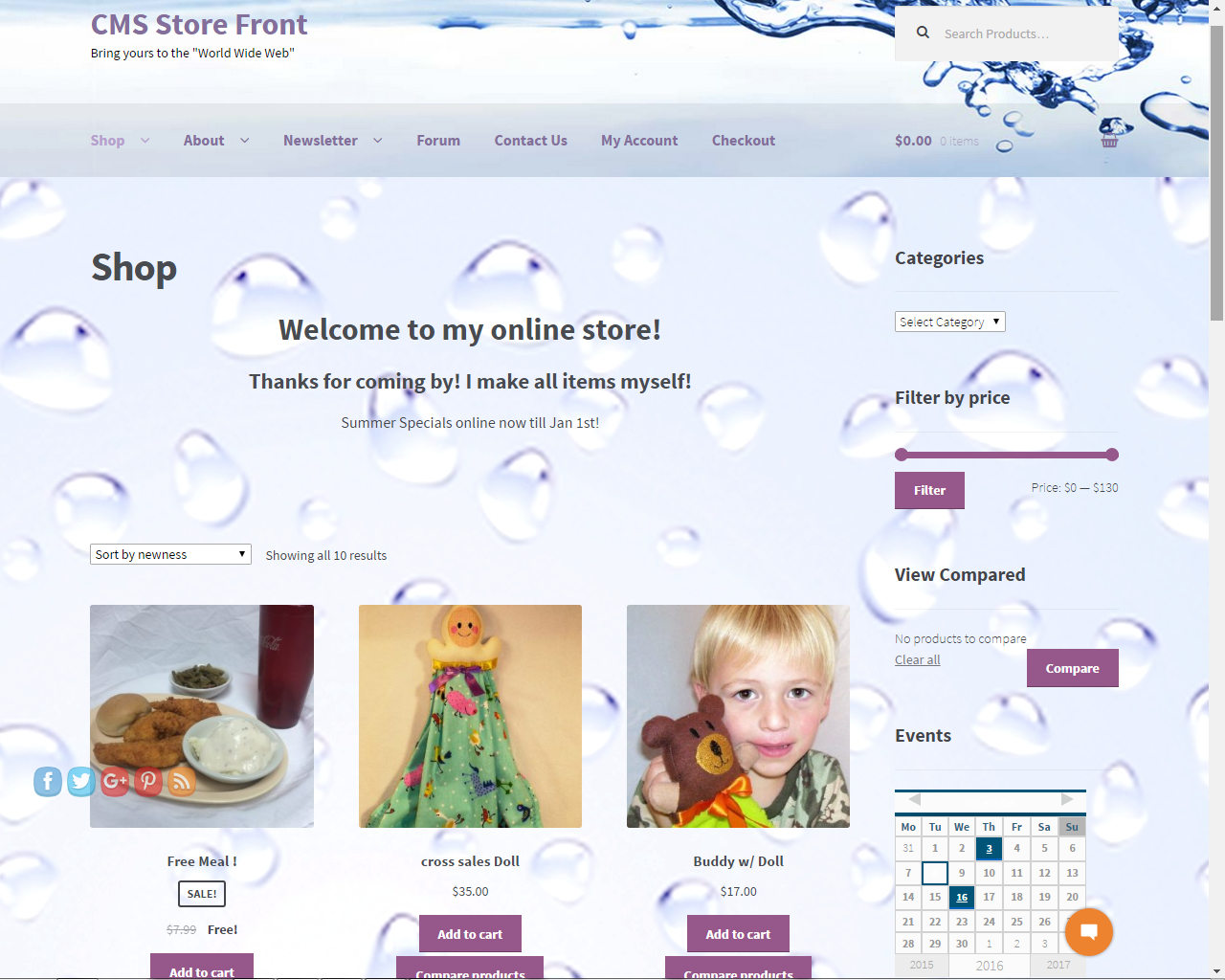 Store Front CMS
