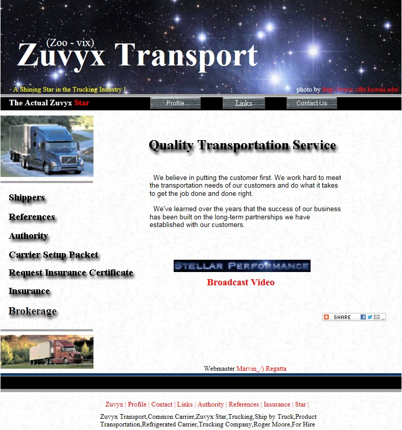Zuvyx Website