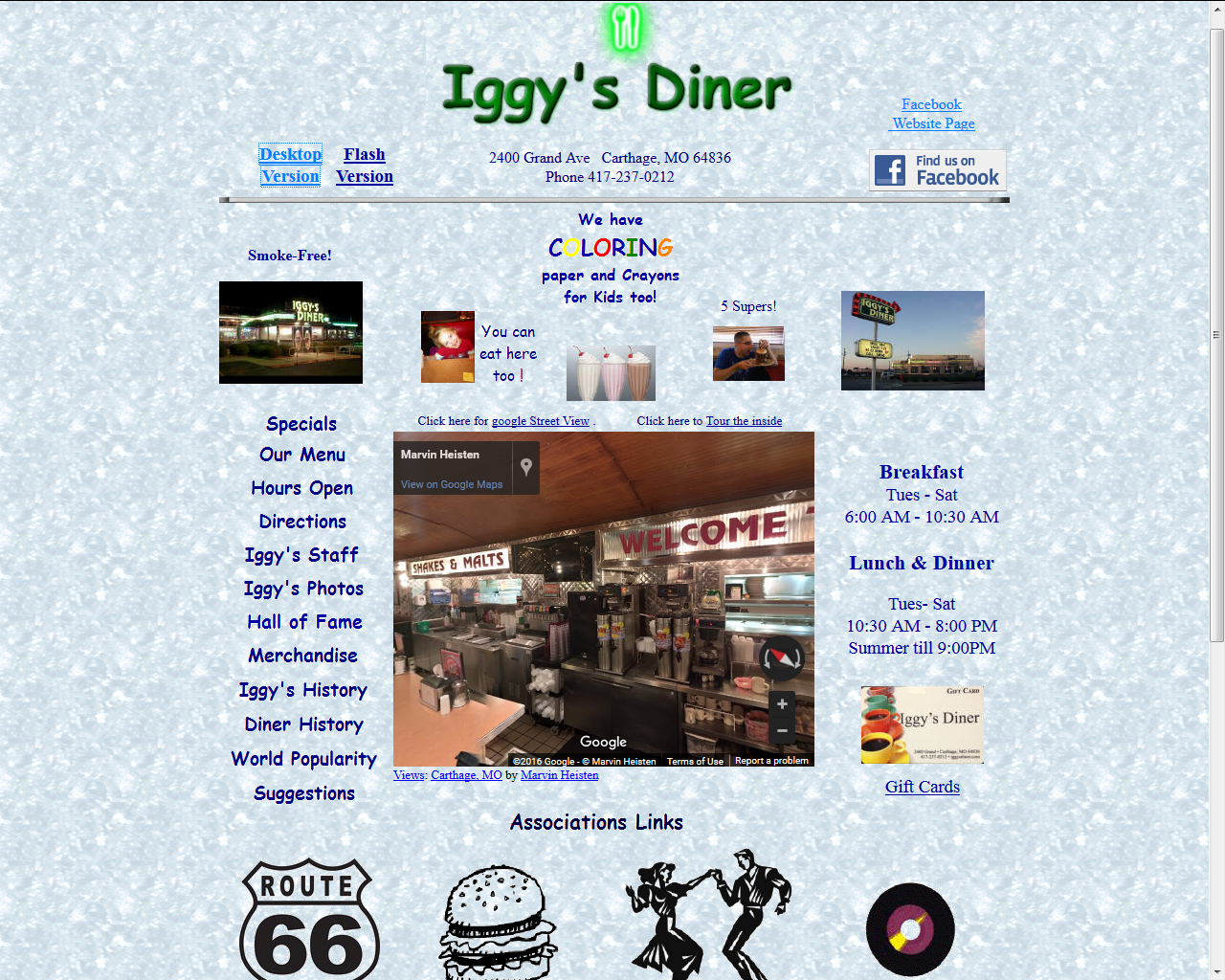 Iggy's Diner html