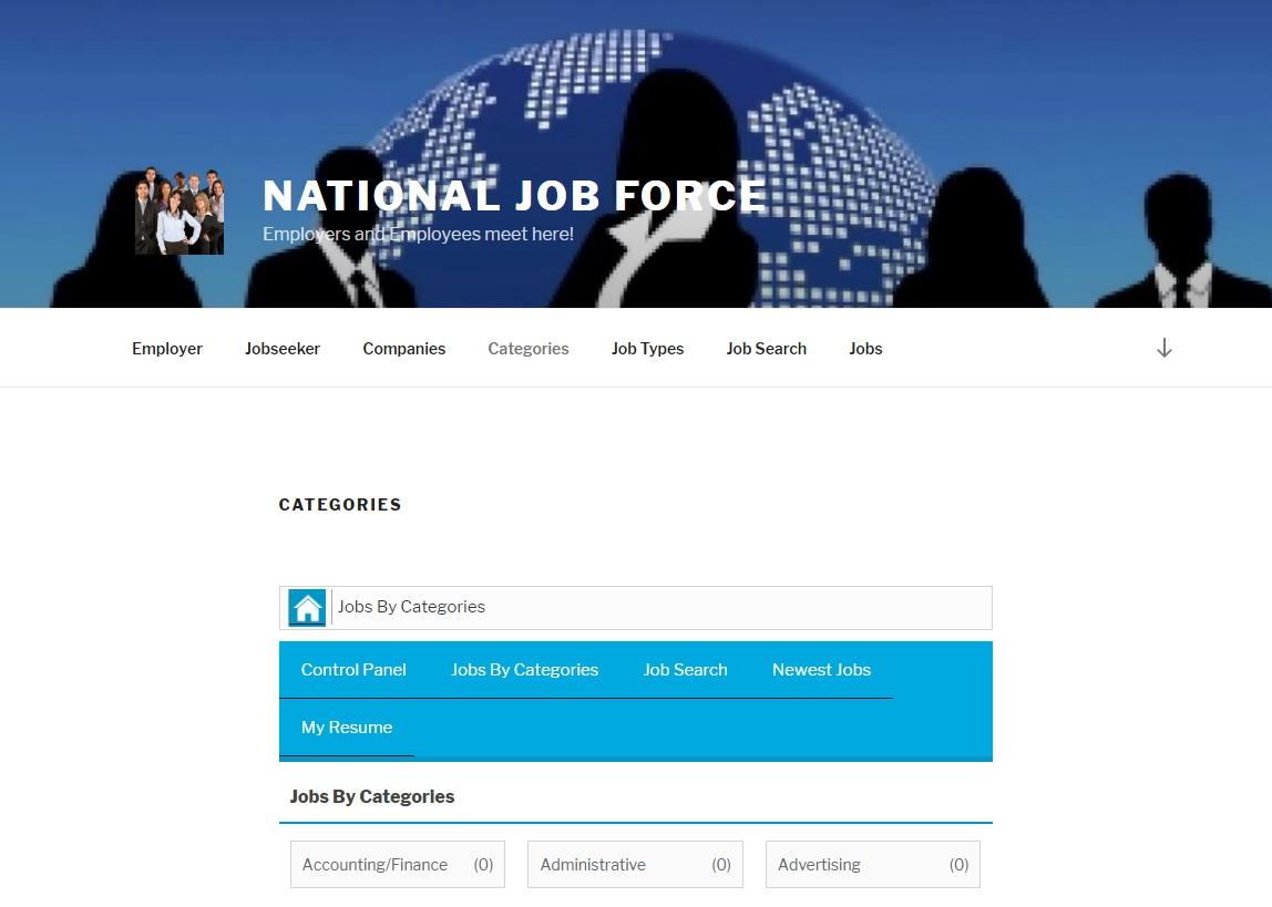 National Job Force Website