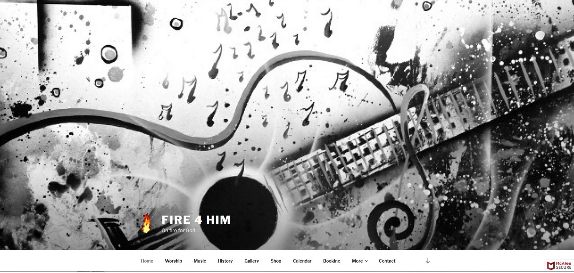Fire 4 Him website
